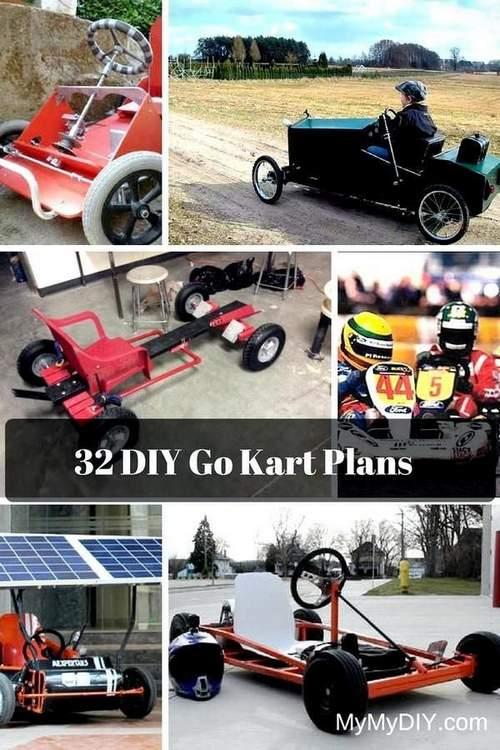 32 Awesome DIY Go Kart Plans. MyMyDIY, вдохновляющие проекты DIY
