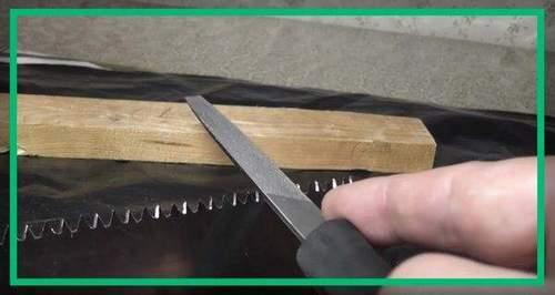 Как Наточить Ножовку По Дереву Напильником