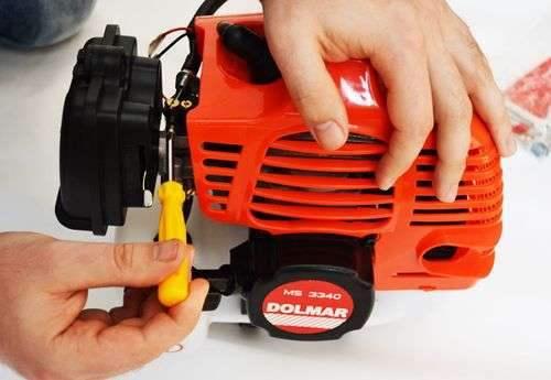 Как отрегулировать газонокосилку карбюратора Stihl Fs 55