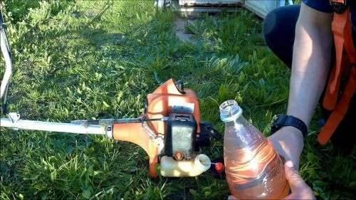 Как развести топливо для триммера