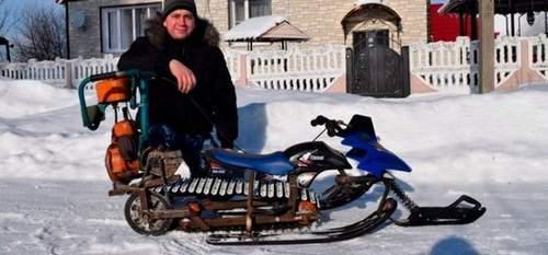 Как Сделать Снегоход Из Бензопилы Урал
