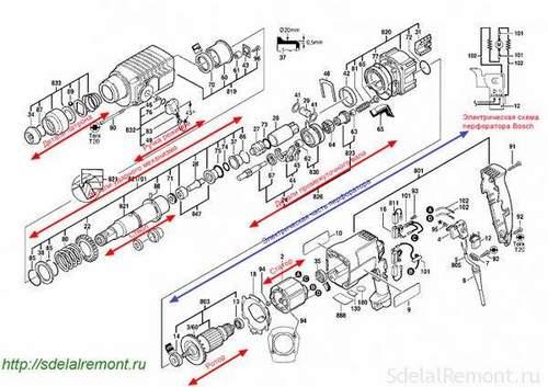 Сборка Перфоратора Bosch 2 24