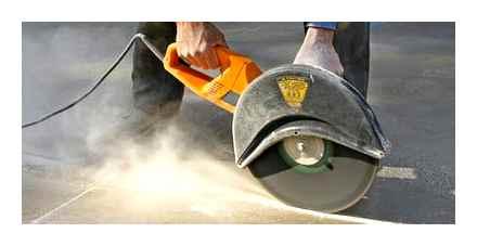 Чем распилить бетонную плиту с арматурой