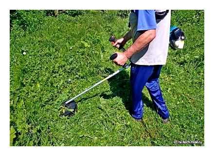 Каким диском лучше косить траву триммером